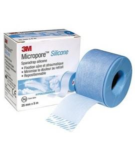 Sparadrap micropore Sillicone 3M