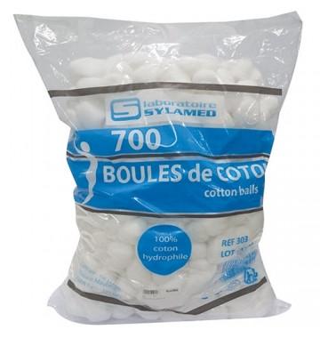 Boules de coton hydrophyle en sachet de 700