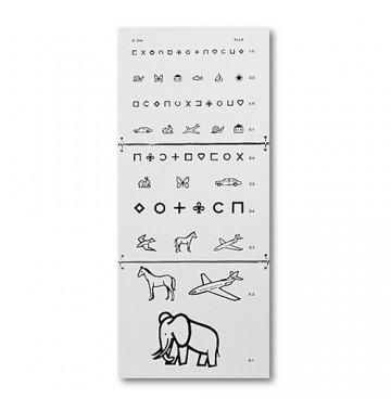 Echelle optométrique MONOYER pour enfants