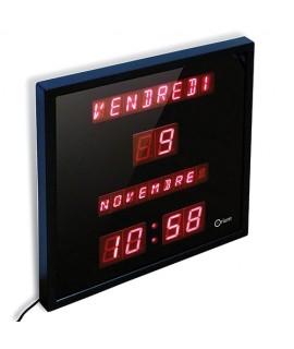 Horloge calendrier à LED
