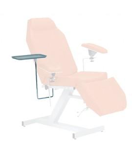 Plateau inox avec support pour fauteuil