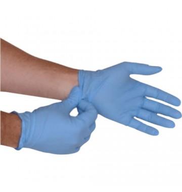Gants nitrile bleu, non poudrés, non stériles
